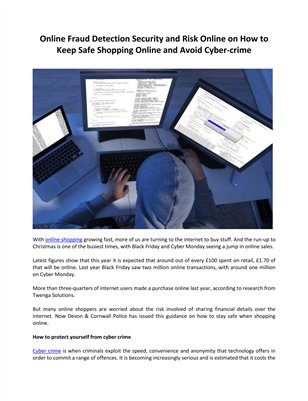 How to Keep Safe Shopping Online and Avoid Cyber-crime