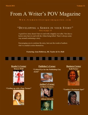 From A Writer's POV March 2011 Edition
