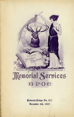 1927 Paducah Elks Lodge 217 Memorial Service, Paducah, Kentucky