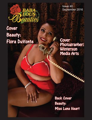 Baba Lous Beauties-Anything Pin Up Issue 40: September 2016
