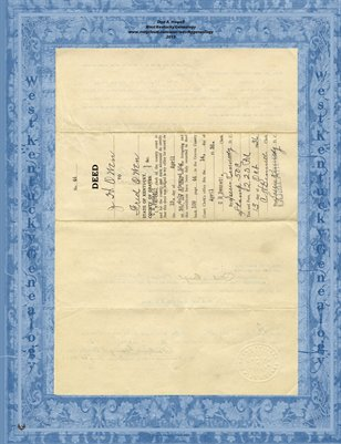 Magazine size 1936 Deed, J.H. Owen to Fred Owen, Graves County,KY