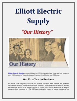 Elliott Electric Supply: Our History