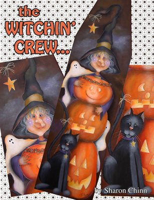 The Witchin' Crew Pelt Board Painting Pattern Tutorial by Sharon Chinn SC00253S