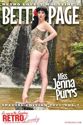 Bettie Page 2021 VOL.7 Miss Jenna Purrs Cover Poster