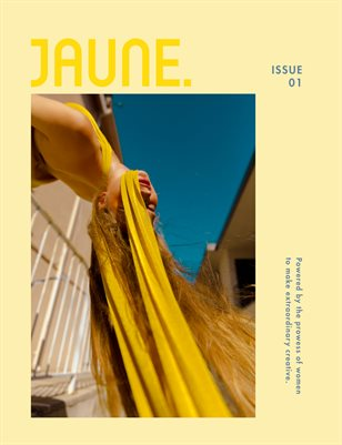 Jaune Magazine Issue 01 \ Cover 2