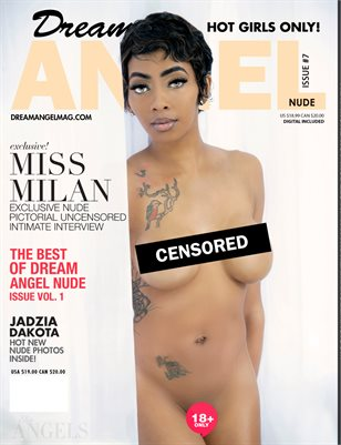 Dream Angel Nude Magazine Issue #7: Ebony Beauty Miss Milan