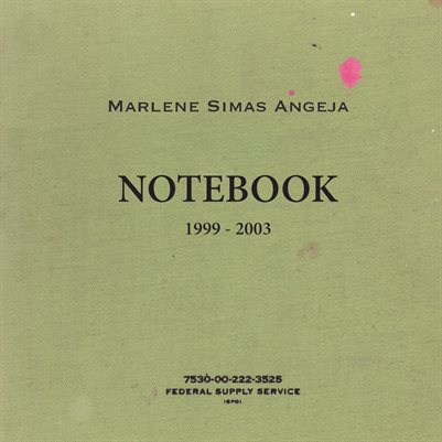 Marlene Simas Angeja: Notebook