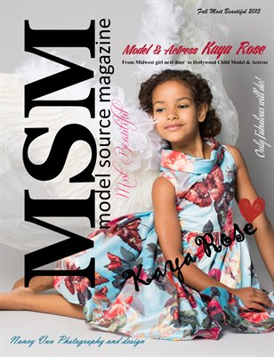 Model Source Magazine Fall Most Beautiful 2015
