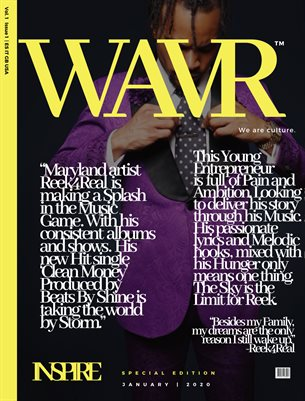 Reek4Real WAVR Mag Special Edition January 20' Cover Issue (Printed Poster)