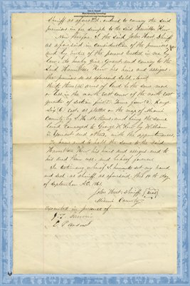 (PAGES 3-4) 1884 Deed, SHERIFF TO KERR, Miami County, Ohio