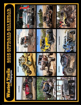Wasted Trails 4x4 magazine's 2015 Offroad Calendar