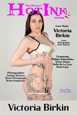 HOT INK MAGAZINE COVER POSTER - Cover Model Victoria Birkin - March 2020