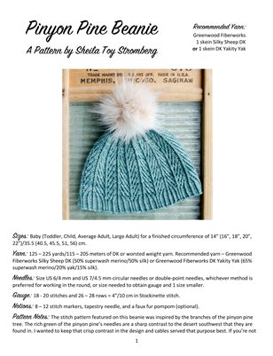 Pinyon Pines Beanie for Greenwood