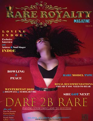 Rare Royalty Magazine Dare 2B Rare 2020 (Indoe Cover)