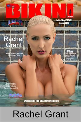 BIKINI INC USA MAGAZINE COVER POSTER - Cover Model Rachel Grant - January 2020blication
