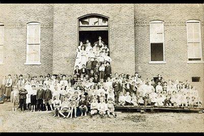 Arlington School House about 1920, Arlington, Carlisle County, Kentucky