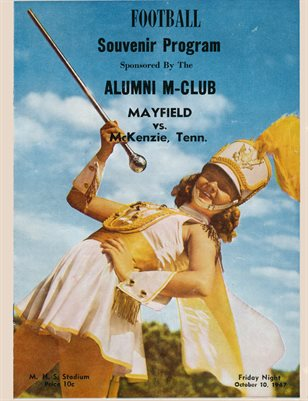 1947 MAYFIELD, KENTUCKY Vs. MCKENZIE, TENNESSEE FOOTBALL PROGRAM