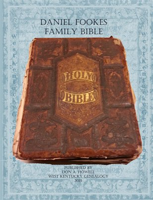 Fookes Family Bible, Marshall County, Kentucky