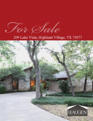 Haugen Properties - 209 Lake Vista, Highland Village, TX 75077
