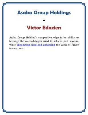 Asaba Group Holdings - Victor Edozien