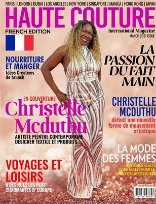 HAUTE COUTURE INTERNATIONAL MAGAZINE Christelle Mars 2021