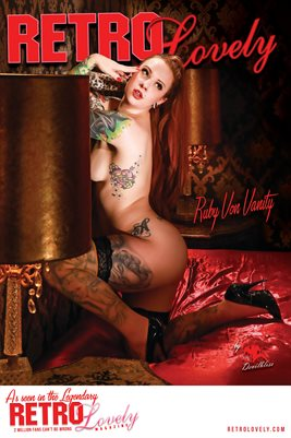 Retro Lovely No.35 - Ruby Von Vanity Cover Poster