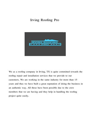 Irving fence repair