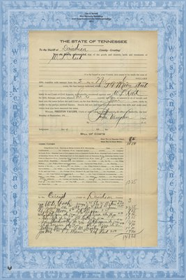 No.2510 Davidson County, In the Court of Civil Appeals, T.G. Moore et.al. vs. W.L. Reed (lives in Sumner Co) Nov. 1916
