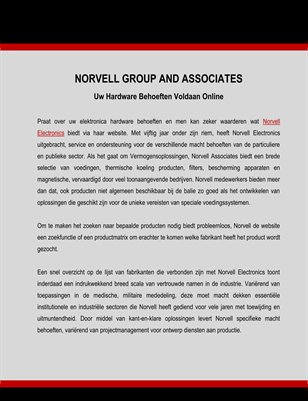 Norvell Group and Associates: Uw Hardware Behoeften Voldaan Online