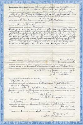 1906, Emma E. Martin & J.B. Martin to Anna Maxey, Ballard County, Kentucky