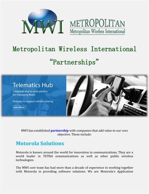 Metropolitan Wireless International: Partnerships