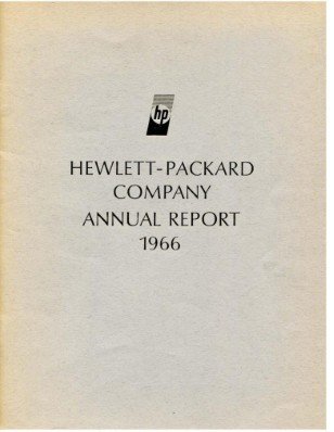 HP Annual Report 1966