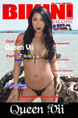 BIKINI INC USA MAGAZINE POSTER - Cover Girl Queen Vii - May 2017