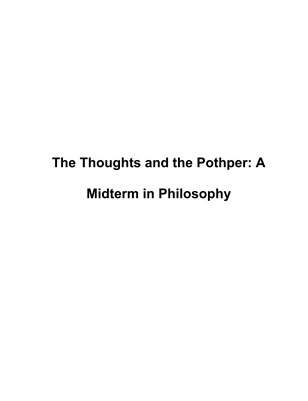 The Thoughts and the Pothper