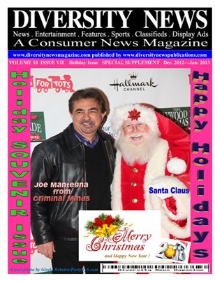Diversity News Magazine Special Print Edition Holiday Issue Featuring Joe Mantegna from Criminal Minds