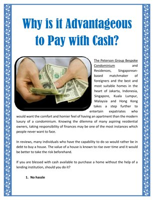 Why is it Advantageous to Pay with Cash?