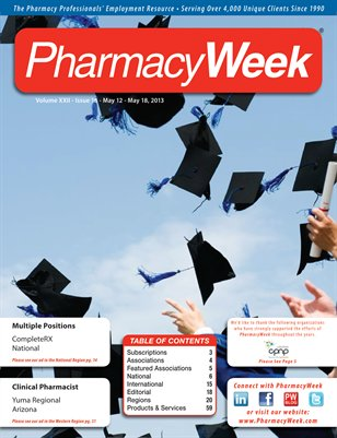 Pharmacy Week, Volume XXII, Issue 18 - May 12 - May 18, 2013
