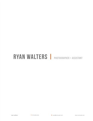 Ryan Walters | Photographer + Assistant