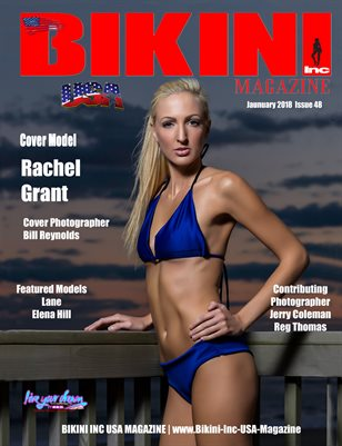 BIKINI INC USA MAGAZINE - Cover Model Rachel Grant - January 2018