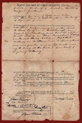 1814 Middleborough Massachusetts Deed - James Pierce & Ethan Pierce