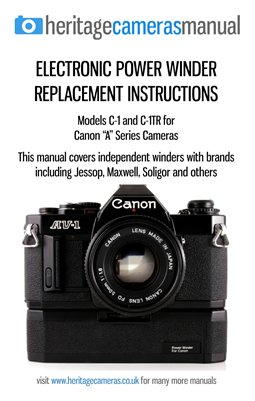 Replacement Instruction Leaflet for C-1TR Power Winder (fits Canon A-Series 35mm film SLR Cameras)