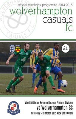 Wolverhampton Casuals v Wolverhampton Sporting Community 14/3/15