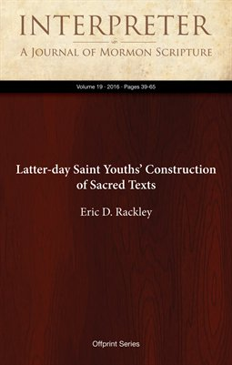 Latter-day Saint Youths' Construction of Sacred Texts