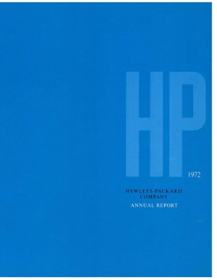 HP Annual Report 1972