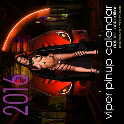 2016 DeLuxe Viper Pinup Calendar - Black Edition