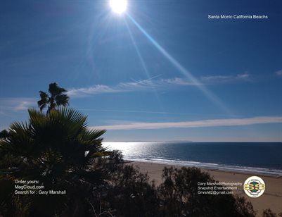 2 picture 2 page 2019 Santa Monica Beach Desktop Holiday's Calendar size Large