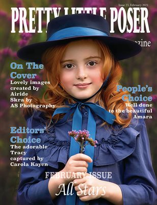 Pretty Little Poser Model Magazine - Issue 23 - All Stars - February 2021