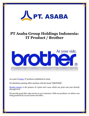 PT Asaba Group Holdings Indonesia: IT Product / Brother