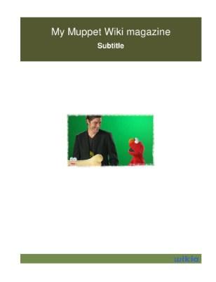 My Muppet Wiki magazine