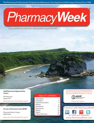 Pharmacy Week, Volume XXVII - Issue 27 & 28 - July 29, 2018 - August 11, 2018